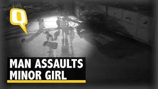 Caught on CCTV: Man Assaults Minor Girl, Knocks Her Unconscious