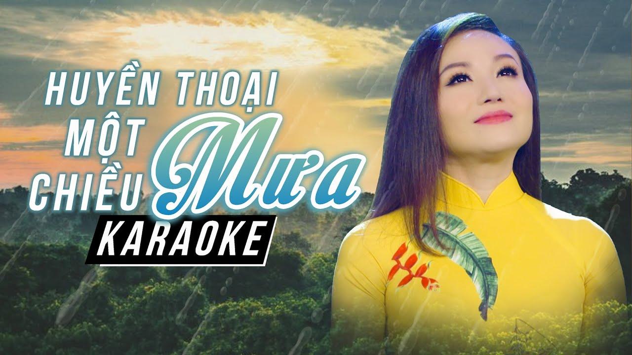 Karaoke HUYỀN THOẠI MỘT CHIỀU MƯA - HOÀNG CHÂU Full Beat