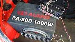 Testissä EBAY 1000W Subwoofer Vahvistin PA-80D P.M.P.O #ebay #1000w #vahvistin #autohifi