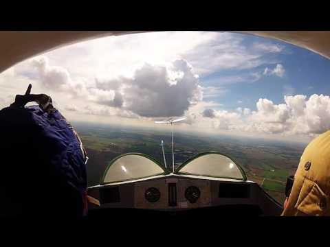 Flying in a 1950's Slingsby T21 Glider