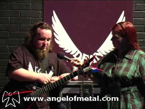 Dani Evans of Alestorm Interview at Dean Guitars owners Party London 2009