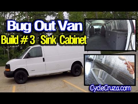 Bug Out Camper Van Build Part 3 Sink Cabinet Build