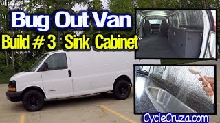 Bug Out Camper Van Build Part 3 | Sink Cabinet Build | Portable Shower Review