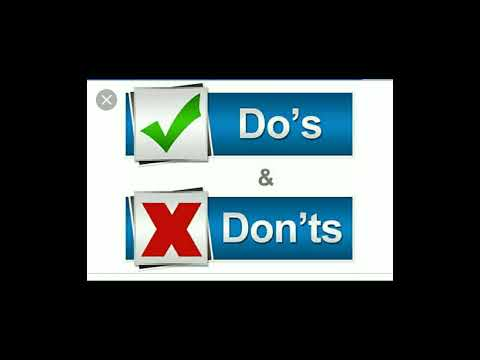 VITEEE  ; Do's and Don'ts