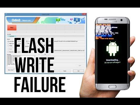 Samsung- How to fix odin fail complete(write) operation failed flash write failure