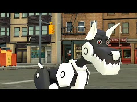 Симулятор собаки. Игра для детей. Робопес против всех.  Детский летсплей Dog Sim