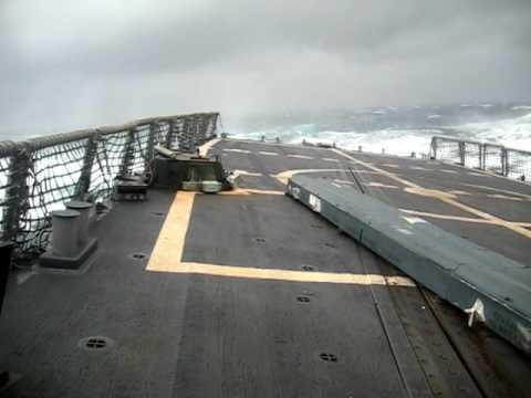 Frigate in Heavy Seas