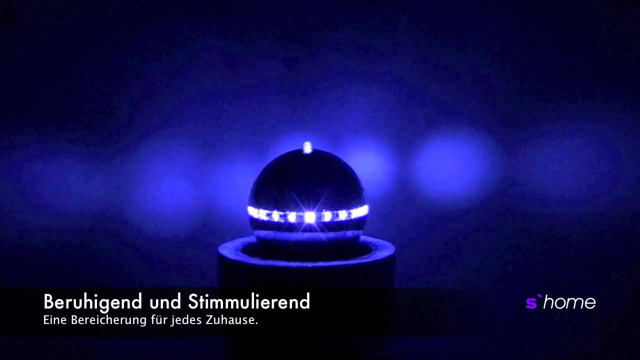 s home fountain zimmerbrunnen mit led beleuchtung licht design skapetze youtube. Black Bedroom Furniture Sets. Home Design Ideas