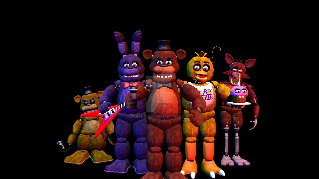 All Fnaf 1 Characters Sing The Fnaf Song Old Version Youtube