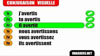 FRANÇAIS LANGUE ÉTRANGÈRE = Conjugaison = Avertir = Indicatif Présent