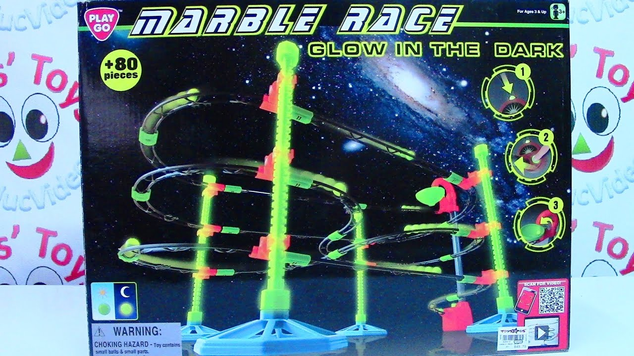 PlayGo Marble Race Glow in the Dark Playset - Kids' Toys