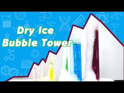 Dry Ice Bubble Tower - Dry Ice Experiments