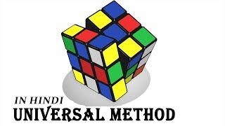 How to solve a Rubik's Cube in Hindi (3X3) : Part 1 (universal solution) screenshot 4