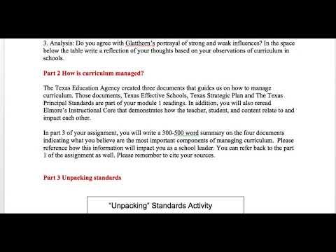 EDLD 5335 Module 1 Assignment Video