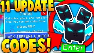 11 SECRET *NEW* LEGENDARY SERPENT UPDATE CODES IN BUBBLE GUM SIMULATOR (Roblox) *Free Pets*