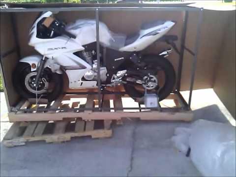Sunny Sports Chinese 250cc rtc sportbike unpacking wmv