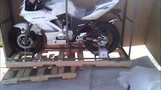 Sunny Sports Chinese 250cc rtc sportbike unpacking.wmv