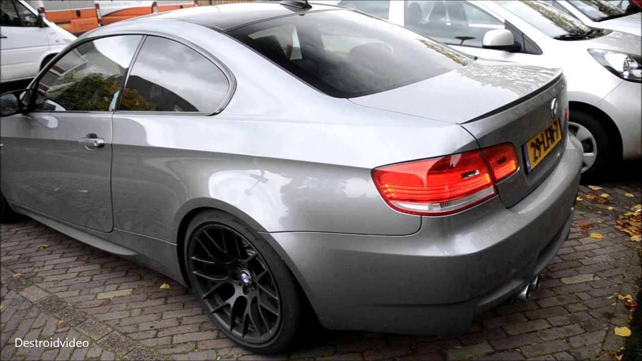 2010 BMW M3 E92 Coupe Start-up, small revs and drive off - YouTube