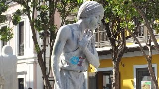 Estatua Parlante en el Viejo San Juan