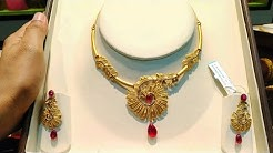 Tanishq Gold Necklace Collection ( light weight) with Weight