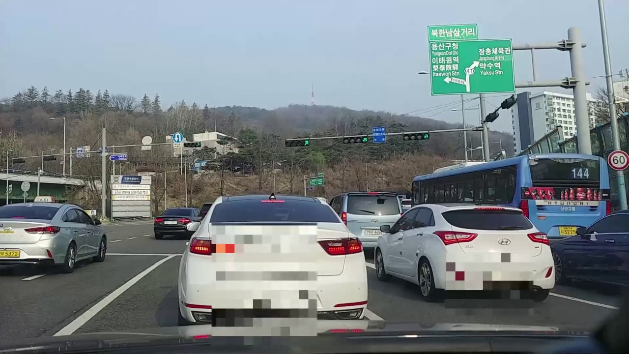 [8th] Korea Driving Time lapse, from Gangnam gu to Chungmu Arts Center
