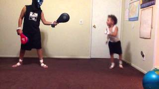 AWESOME TAEKWONDO KICKS BY 6 YEAR OLD JEREMY