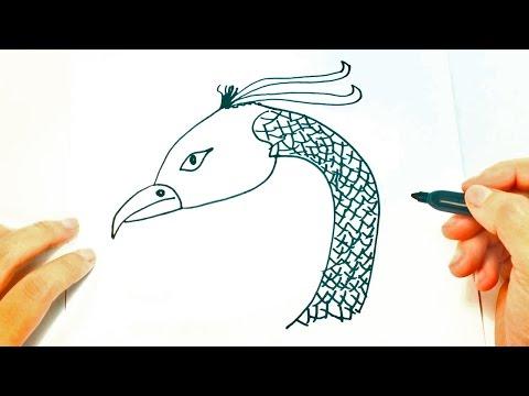 Cómo dibujar un Fénix paso a paso | Dibujo fácil de Ave Fénix