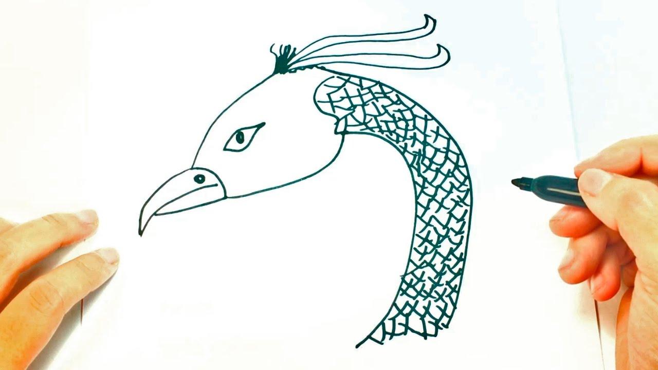 Cómo Dibujar Un Fénix Paso A Paso Dibujo Fácil De Ave Fénix Youtube