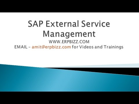 Sap Service Purchase Order And Service Entry Sheet Youtube