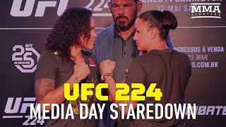 UFC 224: Amanda Nunes vs. Raquel Pennington Media Day Staredown - MMA Fighting