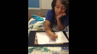 How to draw stampy cat with letters and numbers