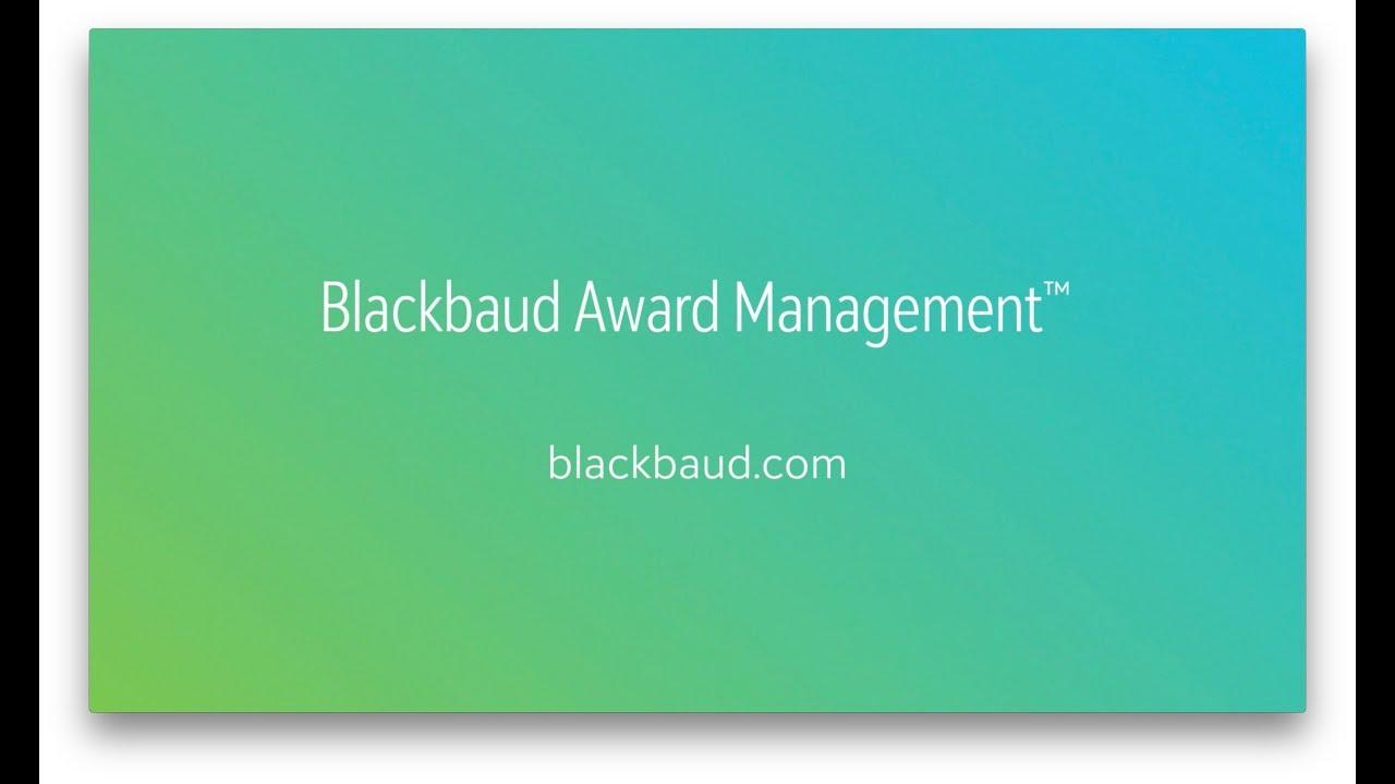 Introducing Blackbaud Award Management - YouTube