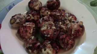 Как приготовить шампиньоны фаршированные сыром и луком в аэрогриле.(Помогаем маме готовить грибы , фаршированные луком и сыром. Нам понадобится: грибы , лук , сыр , майонез ,..., 2015-03-16T17:34:40.000Z)