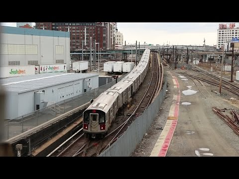 NYC Subway: (7) Trains Terminating at Hunters Point Avenue
