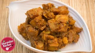 Spicy Dry Potato Curry - Easy Side Dish Recipe For Roti, Paratha or Rice   Sharmilazkitchen