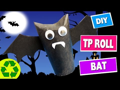 How to Make a Toilet Paper Roll Bat -  Toilet Paper Roll Crafts - simplekidscrafts