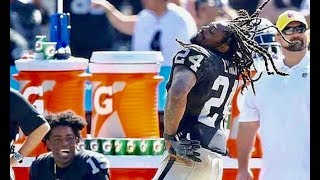 Marshawn Lynch GOES DUMB on Raiders Sideline for His Hometown of Oakland!