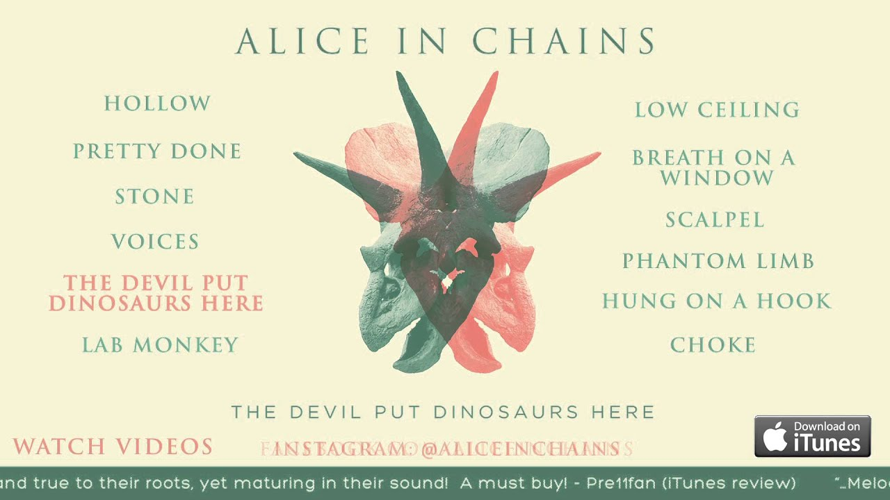 alice in chains the devil put dinosaurs here album sampler youtube. Black Bedroom Furniture Sets. Home Design Ideas