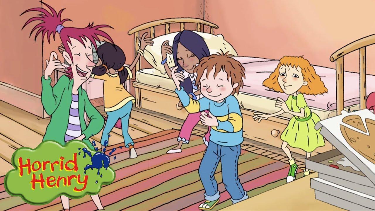 Pizza and Dance Sleepover | Horrid Henry | Cartoons for Children
