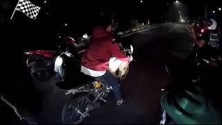 Download Video Drag malam!!!! Ninja Anjela vs ninja Tryto, Drag Malam MP3 3GP MP4