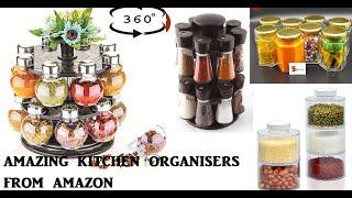 Latest kitchen ORGANISERS from amazon/ storage boxes, spice rack, pot rack orgainsers from Amazon