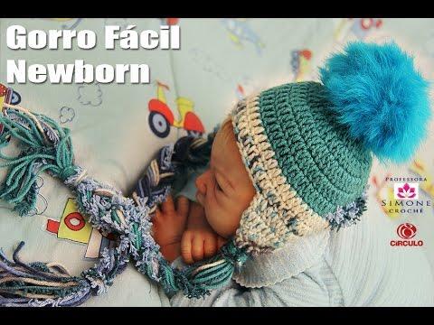 Gorro Facil Newborn Infantil em crochê - Professora Simone - YouTube 70b81dbdaa9