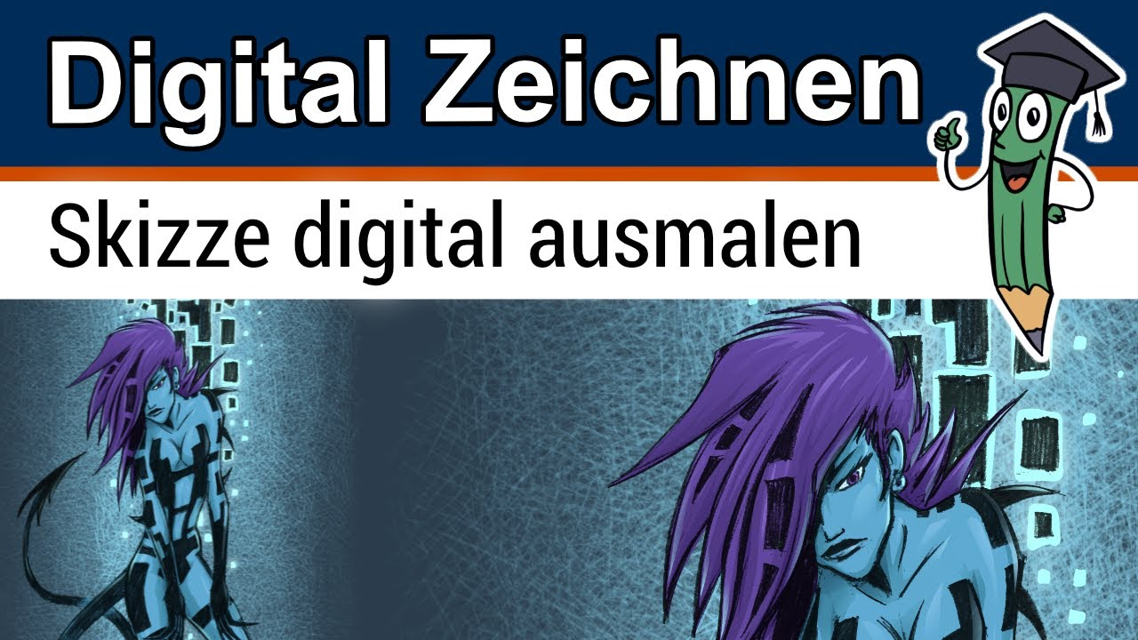 Skizze Digital Ausmalen - Video Tutorial Mit Procreate