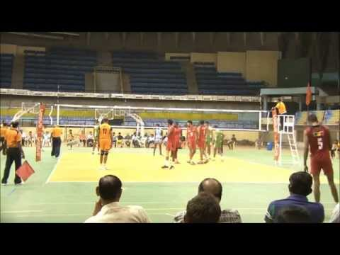 Karnataka Volleyball League 2014 Match No 74 BSNL Vs MEG Set 3