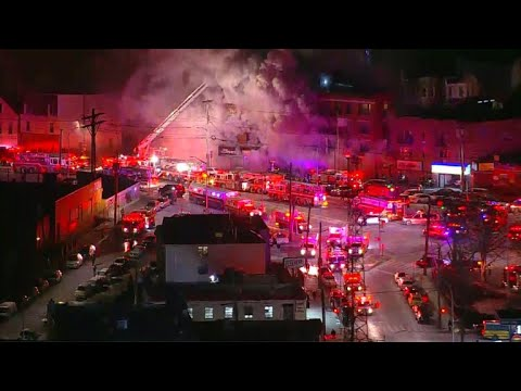 Fire tears through building in the Bronx