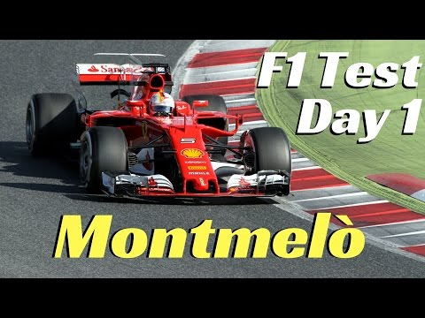 F1 2017 Test - New generation cars - Day 1 - Montmelò; Fly-bys, actions & V6 Sound!