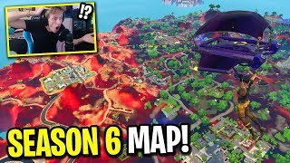 This CHEATER gave me the SEASON 6 Fortnite map and I played it...