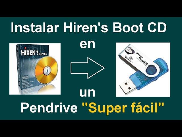 Como Instalar Hirens Boot CD en una Memoria Flash Super Fácil