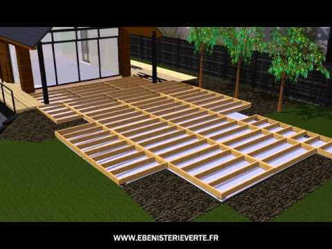 terrasse bois et composite en kit a monter soi meme youtube. Black Bedroom Furniture Sets. Home Design Ideas