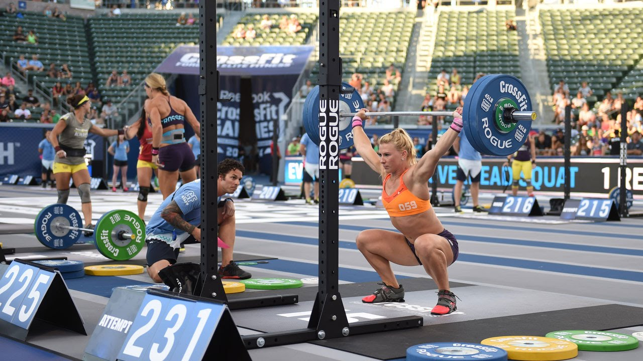 The Crossfit Games Individual Overhead Squat Youtube